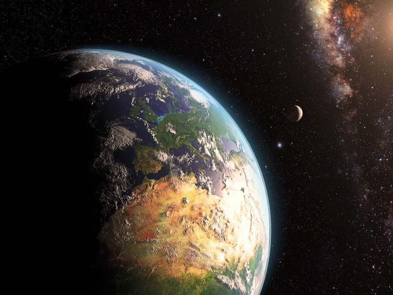 Planetary view of Earth